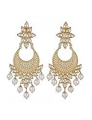 Amethyst By Rahul Popli White Silver Stud Earrings - B00OYSBUQC