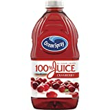 Ocean Spray 100% Juice Cranberry, 60 Ounce Bottles (Pack of 8)