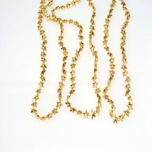 Lot Of 12 Metallic Gold Star Theme Mardi Gras Beaded Necklaces