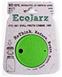Ecojarz Silicone Drink Top with Straw for Small Mouth Canning Jars With Stainless Steel Straw and Cleaner