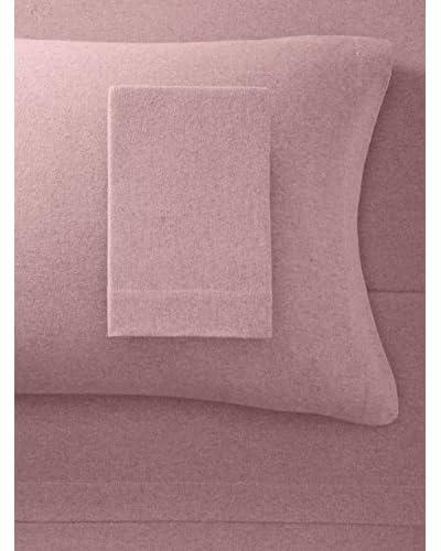 La Rochelle Brandy Heather Solid Flannel Sheet Set