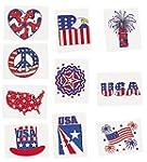 Glitter Patriotic Temporary Tattoos (...