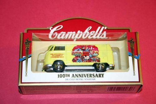 Campbell's Soup 100th Anniversary Die-Cast Car Model Souvenir - Yellow Volkswagen Van/Bus - 1