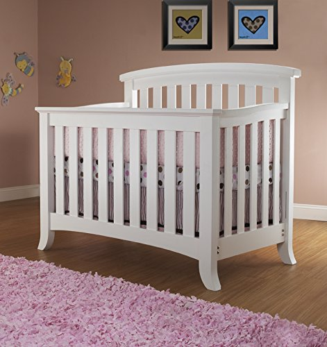Sorelle Alex 4-in-1 Crib, White