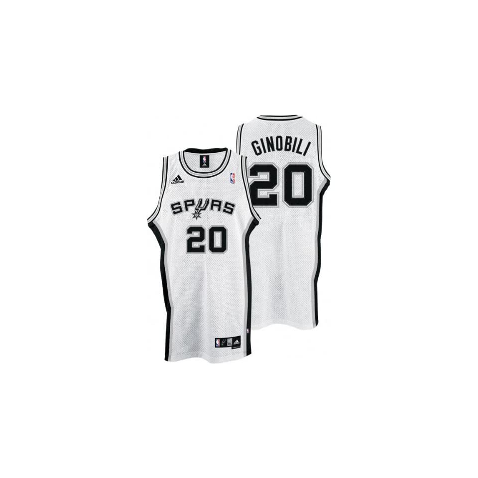 Manu Ginobili White adidas NBA Swingman San Antonio Spurs Youth Jersey b5aa136f7
