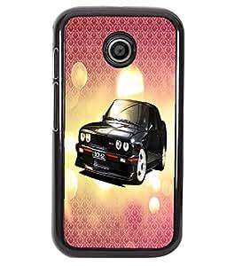 PrintVisa Metal Printed Car Designer Back Case Cover for Motorola Moto E/ E Dual sim -D5092