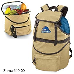 Boise State Broncos Zuma Insulated Backpack with Waterproof Liner - Beige w/Embroidery