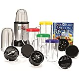 Compact Countertop Magic Bullet Blender Multipurpose Appliance 17-Piece Express Mixing Set, Bones 10 Second Recipe Book
