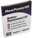 Kindle D00701 eReader Battery Replacement Kit with Video Installation DVD, and Extended Life Battery.