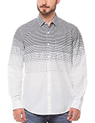 Shuffle Men's Casual Shirt (8907423017252_2021510601_Medium_White)