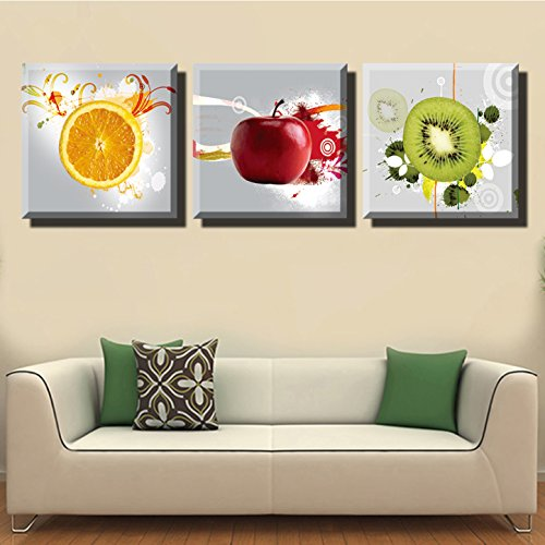 LYGLO Canvas Prints - Bright and Vibrant Fruit Canvas Wall Art Paintings for Kitchen (Fruit Art compare prices)