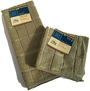 Microfiber Dish Towel Dish Rag Set Window Pane Style Dishcloth Pack of 3 Dish Towel & Dish Rags Set Sage Green Simple Dish Washing Kitchen Cleaning Supplies Kitchen Accessories Microfiber Cleaning Cloth Dish Washing Cleaning Supplies Sage Green