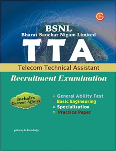BSNL Bharat Sanchar Nigam Limited: TTA Telecom Technical Assistant Recruitment Examination price comparison at Flipkart, Amazon, Crossword, Uread, Bookadda, Landmark, Homeshop18