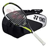 Yonex EZone Ai 100 Lite Strung Tennis Racquet with 6 Racquet Bag by Yonex