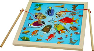 Toys of Wood Oxford Wooden Magnetic Fishing Game - Fishing Game Jigsaw Game Board