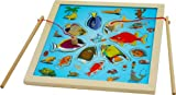 Wooden Magnetic Fishing Game - Fishing Game Jigsaw Game Board