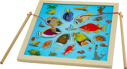 Toys of Wood Oxford Legno magnetico Gioco pesca - Gioco pesca Jigsaw gioco da tavolo