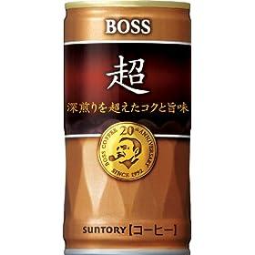 サントリー コーヒーボス 超 -深煎りを超えたコクと旨味- 180g×30本