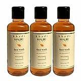 Khadi Mauri Herbal Fenugreek Face Wash Pack of 3 Ayurvedic Natural Methi Face Wash 210 ml each