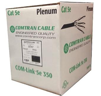 comtran 32347 cat 5e plenum rated network cable box of. Black Bedroom Furniture Sets. Home Design Ideas