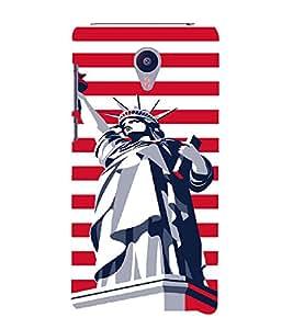 PrintVisa Travel USA Art 3D Hard Polycarbonate Designer Back Case Cover for Meizu MX5