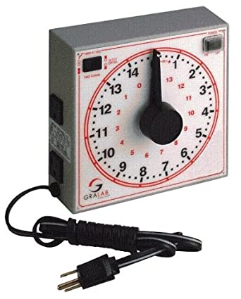 "GraLab Model 172,  15 Minute General Purpose Timer, 7-1/2"" Length x 7-1/2"" Width x 2-1/2"" Height, +/-0.015% Accuracy"