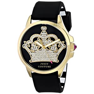 Juicy Couture Women's 1901142 Jetsetter Analog Display Quartz Black Watch