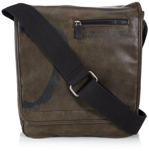 Strellson Paddington Messenger MV 4010001166, Borsa Messenger Uomo, Marrone (Braun (mud 752)), 27 x 31 x 9 cm (L x A x P)