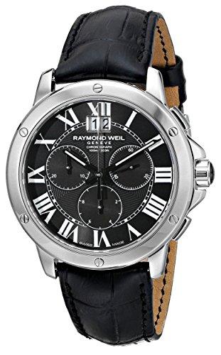 raymond-weil-hombre-4891-stc-00200-tango-analog-display-reloj-negro-de-cuarzo-suizo