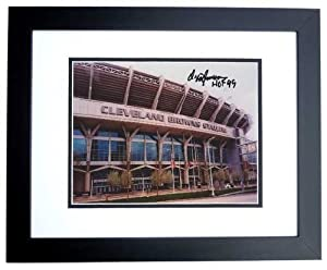 Ozzie Newsome Autographed Hand Signed Cleveland Browns 4x6 Photo - BLACK CUSTOM FRAME... by Real Deal Memorabilia