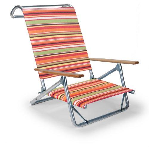 Telescope Casual The Original Mini-Sun Chaise Folding Beach Arm Chair, Cantina