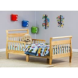 Dream On Me Sleigh Toddler Bed | Necessary Tools for Easy Assembly are Included - Non-Toxic Finish, Natural