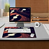 MSD Premium Gaming Tablemat Mousepad Old phonograph and gramophone records retouching Vintage Natural Rubber 24 x 15 x 0.2 Inch IMAGE 21941503