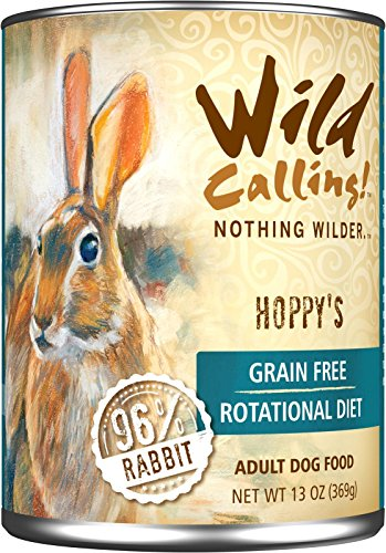 Wild-Calling-13oz-Hoppys-96-Rabbit-Canned-Dog-Food-12-pack