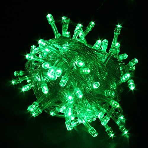 100 LED Christmas Party Fairy Light String Green LED Christmas Lights