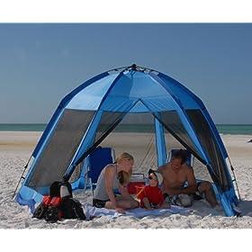 Summer Beach Cabana / Tent - Quick Setup and Floorless  sc 1 th 224 & Portable Beach Cabana