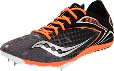 Saucony Men's Endorphin Spike LD3 Track Shoe,Grey/Black/Vizipro,11 M US