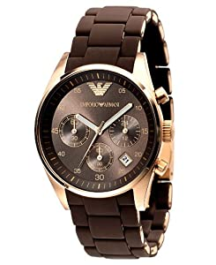 Amazon.com: Emporio Armani Ladies AR5891 Sport Rose Gold Ion-Plating