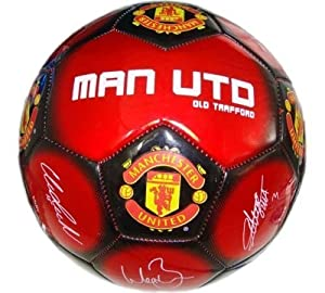 Manchester Utd Football, Soccer Ball, Size 5 Signature Official Mufc Products by Manchester United