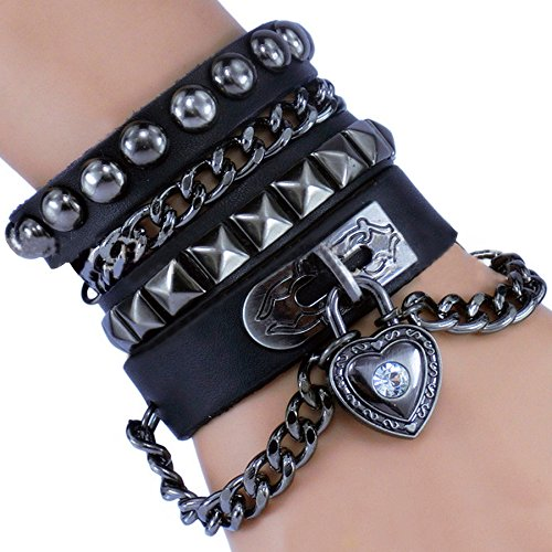rivet-bracciale-punk-rock-rivetti-multi-circle-catena-braccialetto-creative-in-pelle-colore-nero