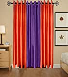 Indian Online Mall Plain Door Curtain (Pack of 2), Rust and Purple