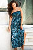 Beach Belle b. belle Skipping Stones Plus Size Smocked Maxi Dress Plus Size Swimsuit thumbnail