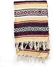 Mexican Blanket Serape colors burgundy maiz amp white