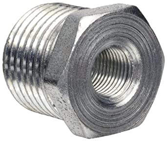 Anvil Steel Pipe Fitting, Class 150, Hex Bushing, NPT Male x NPT Female, Galvanized Finish
