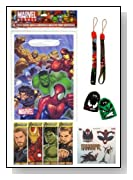 Marvel Super Hero Goodie Bags with Party Favors & Candy