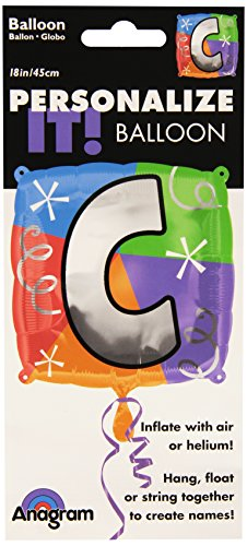 "Anagram International Letter C Quad Package Balloon, 18"", NA"