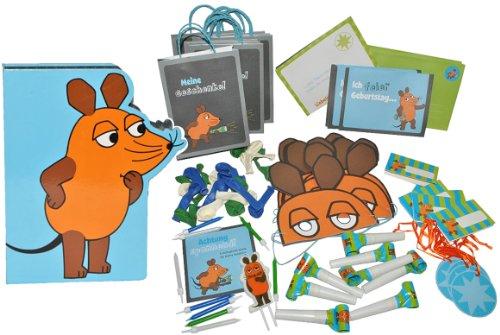88-tlg-Set-Kinderparty-die-Sendung-mit-der-Maus-Deko-Einladungskarten-Luftballons-Partytten-Luftrssel-Geburtstagsset
