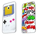 HTC ONE mini 2x SET COMIC + GAMEBOY Hard Case bumper Cover shock thematys®