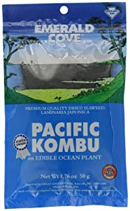 Emerald Cove Silver Grade Pacific Kombu (Dried Seaweed), 1.76-Ounce Bags (Pack of 6) by Emerald Cove