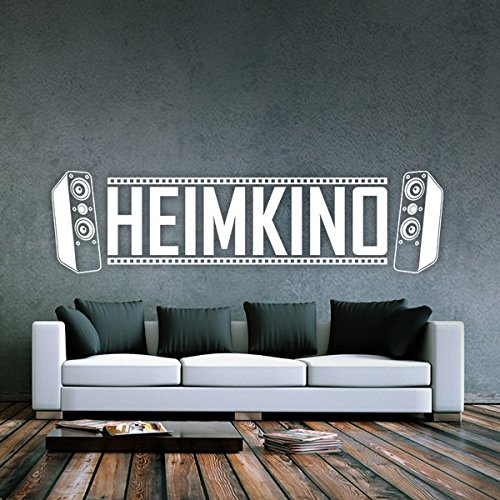 denoda heimkino wandtattoo schwarz 96 x 25 cm wandsticker wanddekoration wohndeko wohnzimmer. Black Bedroom Furniture Sets. Home Design Ideas